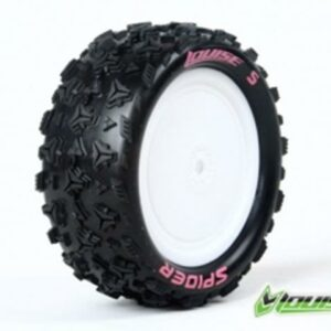 Louise 1/10 Espider Buggy 4x4 Front Tyres Premount 3198swkf-0