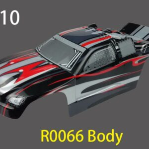 River Hobby 1/10 Stadium Truck Painted body (1011 Black) r0066-0
