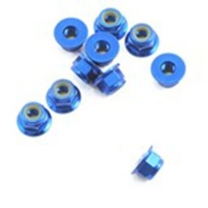 Associated Factory Team Locknut 4mm Blue (10) 25391-0