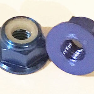 AT Alloy Flanged Lock Nut M2 Royal Blue 2mm (6pc)-0